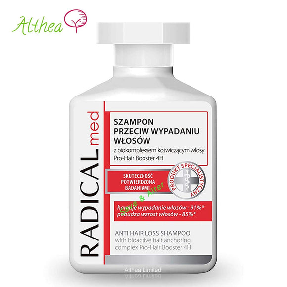 Radical MED Anti Hair Loss Shampoo for Weak and Falling Out Regrowth Strengthens 300ml by IDEEPHARM/Farmona