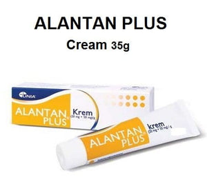 ALANTAN PLUS Cream 35g - Intensive Soothing Moisturizing Skin Health Support Treatment Hyperkeratosis Atopic Dermatitis Eczema Allergic Rhinitis Leg Ulcers Wounds Minor Cuts Itching Nappy Rash Relief