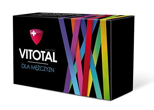 VITOTAL FOR MEN - 30 tablets - vitamins and minerals with lutein, lycopene, soy lecithin, and mate leaf extracts of ginseng root and rhizome of ginger