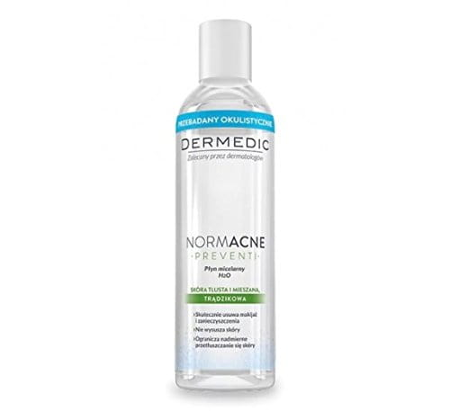 DERMEDIC - NORMACNE - PREVENTI - Micellar water H2O 200 ml - Recommended for everyday cleansing of combination and oily skin with a tendency for acne lesions - Hypoallergenic