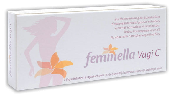 Feminella Vagi C - 6 vaginal tablets - Intimate Infections Treatment