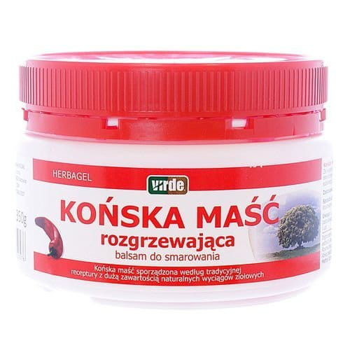 Horse Warming Ointment 350 g - With excessive load or prolonged physical exertion to warm up - traditional name for Product: MASC KONSKA