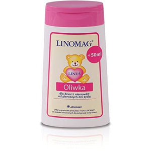 LINOMAG OLIVE - 200 ml - for the daily care of children and infants from the first days of their lives - The oil contains vitamin F, therefore - relieves skin irritations and accelerates regeneration of the epidermis