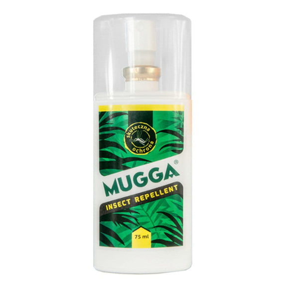Mugga Effective Insect Mosquito Repellent 8 Hours Tropical Travel Spray Roll-on (Insect Mosquito Repellent Spray 9,5% 75ml)