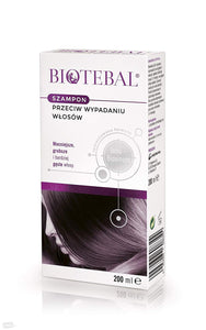 Biotebal shampoo against hair loss 200ml - for scalp and hair, also dyed with a tendency to fall out