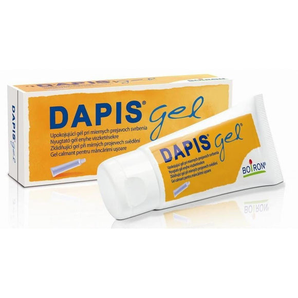DAPIS - 40 g - Gel - designed for outdoor use as a remedy for the discomfort associated with bitten by mosquitoes, ants, horseflies and ticks. Clinical studies have confirmed the safety of the product for small children.