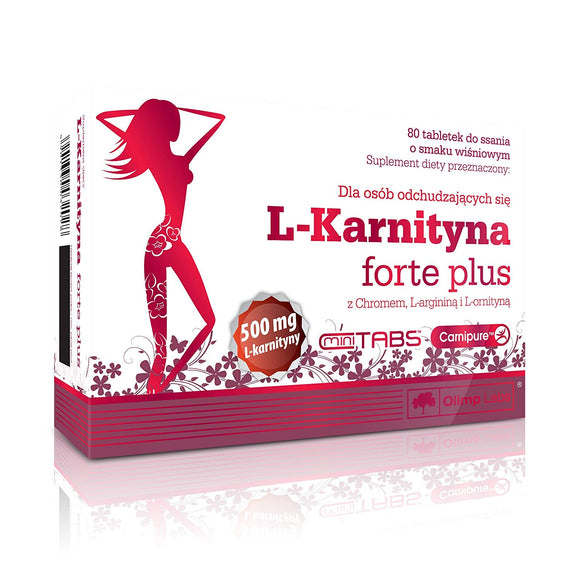Olimp L Carnitine Forte Plus 80 lozenge Tablets Cherry Taste