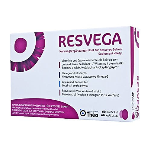 RESVEGA - 60 capsules - dietary supplement that helps to maintain normal vision due to the presence of zinc - NEW