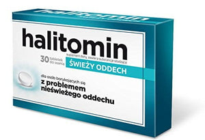 HALITOMIN - 30 lozenges - helps maintain fresh breath for longer and leave a pleasant sensation of freshness in the mouth
