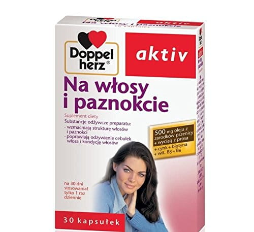 DOPPELHERZ AKTIV ON HAIR AND NAILS - 30 capsules