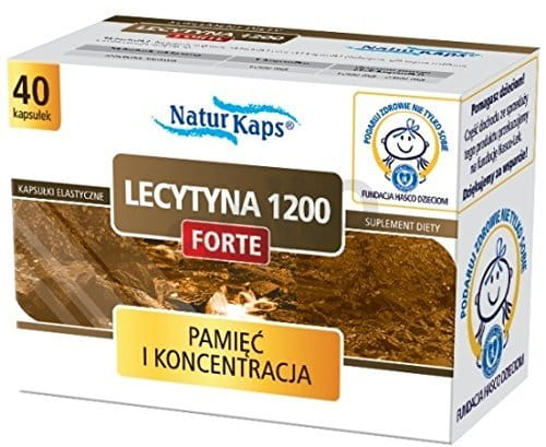 LECITHIN Forte 1200 Naturkaps - 40 capsules - is recommended as a dietary supplement lecithin, in particular: - persons exposed to stress, - learners - those overtired, attention deficit, - for persons with increased mental effort.