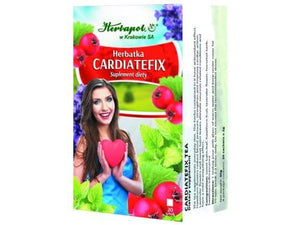 HERBAPOL - CARDIATEFIX TEA - 20 sachets - The tea supplements everyday diet. Hawthorn fruit reduce blood pressure, strengthen and improve cardiac action.