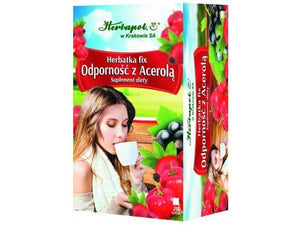 HERBAPOL - IMMUNITY WITH ACEROLA TEA FIX - 20 sachets - Herbs which compose the tea are recommended especially for people at risk of immunity loss - Perfect herbal composition with a beneficial effect on the increase of immunity of the organism