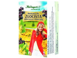 HERBAPOL - GOLDEN TEA - FIX - 20 sachets - An enriched tea with precious herbs, recommended for chronic cold sufferers.