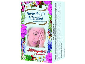 HERBAPOL - FIX TEA MIGRENKA - 20 sachets - A perfect combination of herbs, especially recommended to people living in permanent stress and haste.