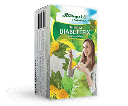 HERBAPOL - DIABETEFIX -20 sachets - The tea is a supplement of everyday diet. The herbs comprising the mix regulate the level of blood sugar.