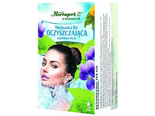 HERBAPOL - DETOXIFYING TEA FIX - 20 sachets - is a perfect composition of herbs, recommended especially for people who take a lot of medications and antibiotics