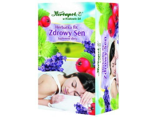 HERBAPOL - TEA FIX HEALTHY SLEEP - 20 sachets - is particularly recommended for people who suffer from circadian rhythm sleep disorders - The presence of melissa in the mixture has calming and soothing effect on the organism...