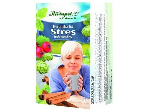 HERBAPOL - STRESS TEA FIX - 20 sachets - The tea is recommended especially for people who are exposed to high stress. It is a perfectly selected mix of herbs which helps to effectively reduce stress