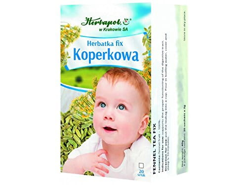 HERBAPOL - FENNEL TEA FIX - 20 sachets - Supports the proper functioning of the digestive tract