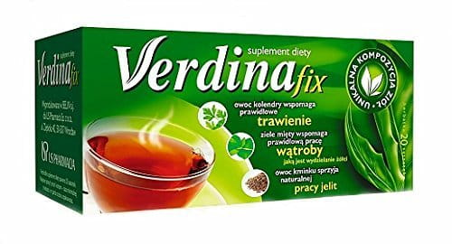 Verdin tea fix - 20 sachets - support proper digestion, support the proper functioning of the liver, promote natural bowel function.
