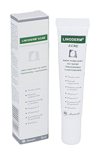 LINODERM ACNE 15 ml cream - helps healing of acne lesions, reduces reddening of the skin, normalizes sebaceous glands functioning, prevents formation of new acne breakouts. It contains provitamin B5 and allantoin