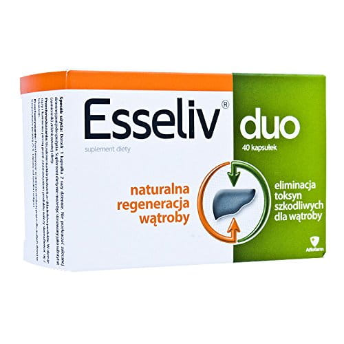Esseliv duo - 40 tablets - for persons whose liver is exposed to adverse external factors, such as poor diet or eating difficult to digest food, alcohol, drugs and to supplement the daily diet with vitamin B.