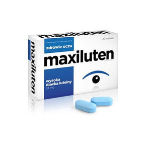 MAXILUTEN - 30 tablets - The supplement contains a high dose of lutein and zeaxanthin, vitamins and minerals that may favorably affect the eyesight