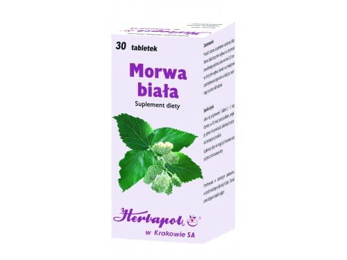 WHITE MULBERRY - 30 tablets - also helps to reduce the body demand for sweets, which helps you to lose weight - helps to maintain the correct sugar level in blood