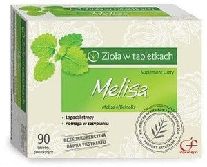 Melissa - Lemon balm dietary supplement - Use in the states of nervousness, anxiety, difficulties with falling asleep, weakened digestive processes.
