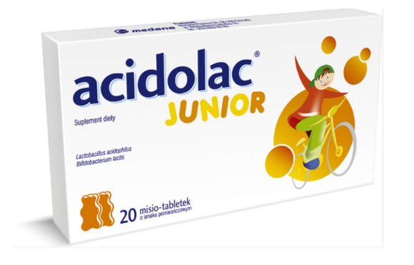 Acidolac Junior Orange 20 Tabl.