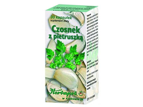 GARLIC WITH PARSLEY - 30 capsules - The active substances influence immunity by supporting natural immunological mechanisms