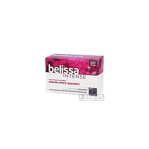 BELISSA INTENSE - 50 tablets - contains concentrated ingredients including L-cysteine, biotin and horsetail extract, contributing to maintaining the proper condition of the hair, skin and nails