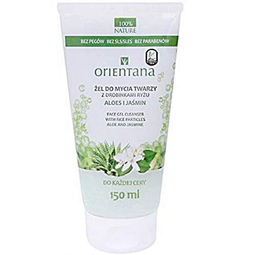 ORIENTANA Face Wash Gel With Aloes And Jasmine Rice - 150ml - VEGAN