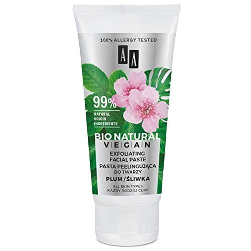 AA BIO NATURAL VEGAN - Face Scrub Paste, Plum - 50ml