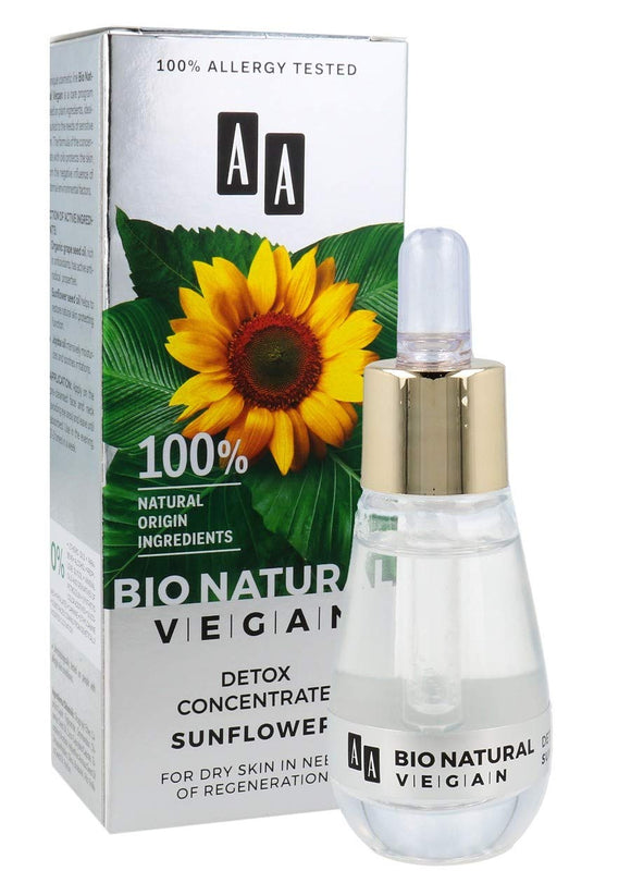 AA BIO NATURAL VEGAN - Concentrate Detox Sunflower For Dry Skin - 15ml