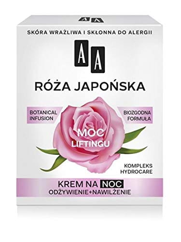 AA BOTANICAL INFUSION Plant Power, Japanese Rose - Face Cream For The Night - 60+, 50ml - lifting power