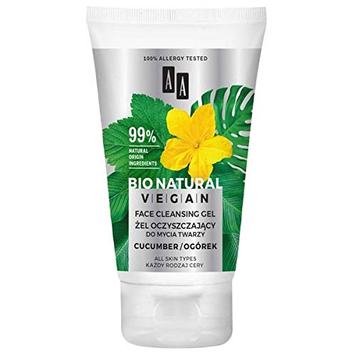 AA BIO NATURAL VEGAN - Cleansing Gel For Face Washing - Cucumber - 150ml