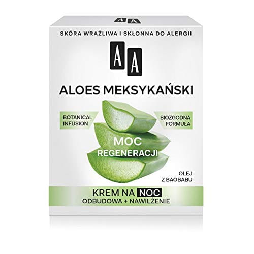 AA BOTANICAL INFUSION Plant Power, Aloe Vera, Night Cream For Face 50+, 50ml - regeneration power