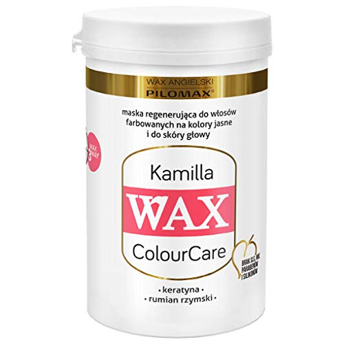 WAX ColourCare KAMILLA for blonde dyed hair – keratin, panthenol, roman chamomile, horsetail and henna extracts - 240 grams