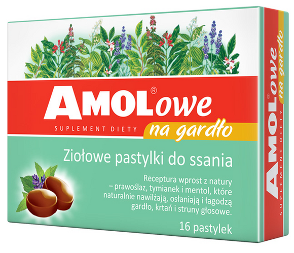 AMOLowe for the throat - 16 lozenges