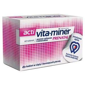 Vita-Miner Prenetal - 60 tablets - dietary supplement - support healthy pregnancy, fetal development and lactating women.