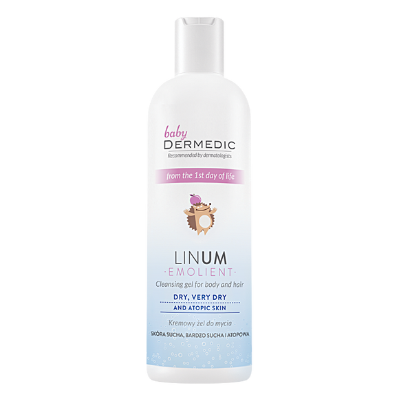 DERMEDIC BABY LINUM EMOLLIENT Creamy Washing Gel From The First Day Of Life - 200 ml