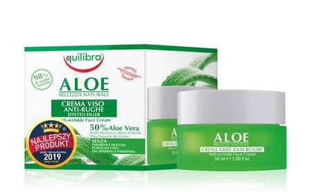 EQUILIBRA Aloe Anti-Wrinkle Face Cream With A Filling Effect - 50ml