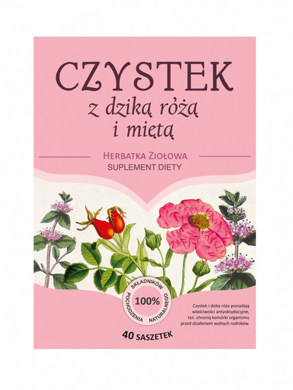 CISTUS With Wild Rose And Mint - 40 sachets of 3g Franciscan Herbal - Franciscan Monks - Traditional Old Herbal Recipe