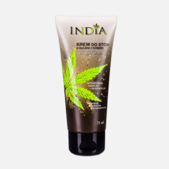 Foot Cream With Cannabis Oil - Intensive Dydration And Regeneration - 75ml