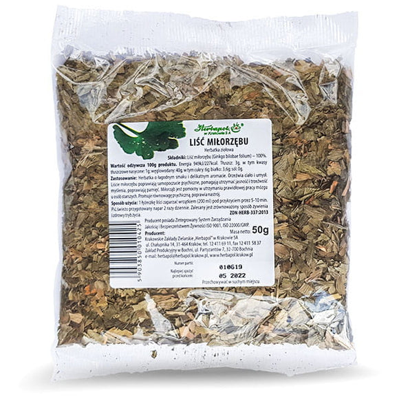 HERBAPOL Ginkgo Leaf - Herbal Tea - 50G