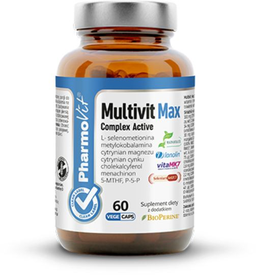 PHARMOVIT - Multivit Max Complex - 60 Capsules - For Vegetarians
