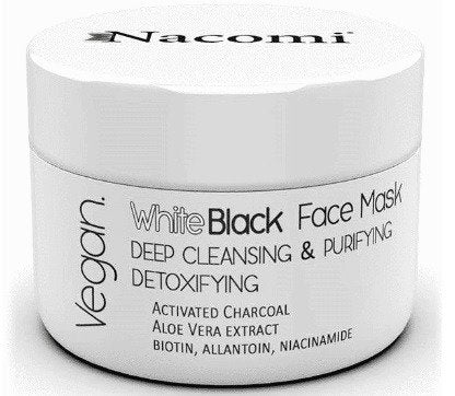 NACOMI White Black Face Mask Black And White Mask With Active Charcoal - 50ml