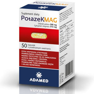 Potazek MAG - 50 capsules - in deficiencies of magnesium and potassium
